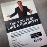 Priority customer cards