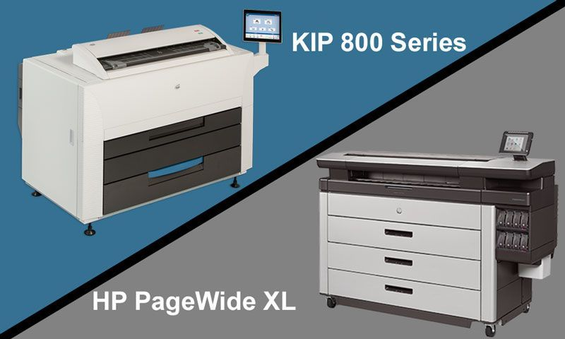 HP PageWide XL vs KIP 800 Series